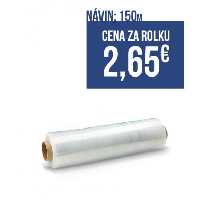 Strečová fólia šírka 250mm, návin 150m, hrúbka 23mic, farba transparent, balenie 20ks roliek