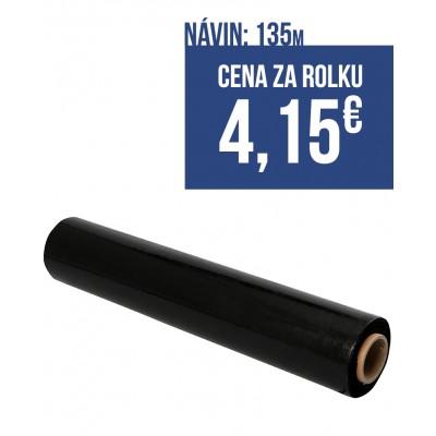 Strečová fólia šírka 500mm, návin 135m, hrúbka 23mic, farba čierna, balenie 6ks
