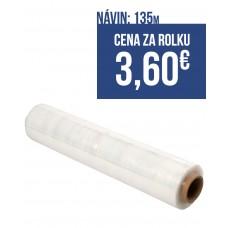 Strečová fólia šírka 500mm, návin 135m, 23mic, farba transparent, balenie 6ks